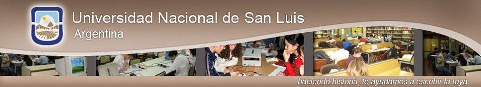 Encabezado de sitio web UNSL