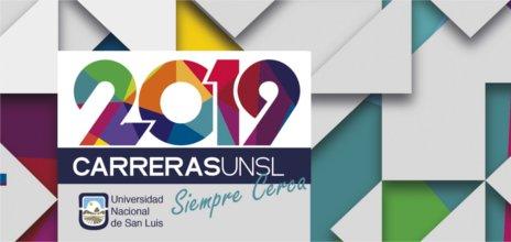 Banner Promoción de Carreras 2019 UNSL