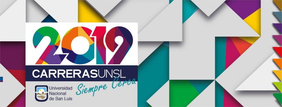 Banner Promoción de Carreras - Ingreso 2019 UNSL